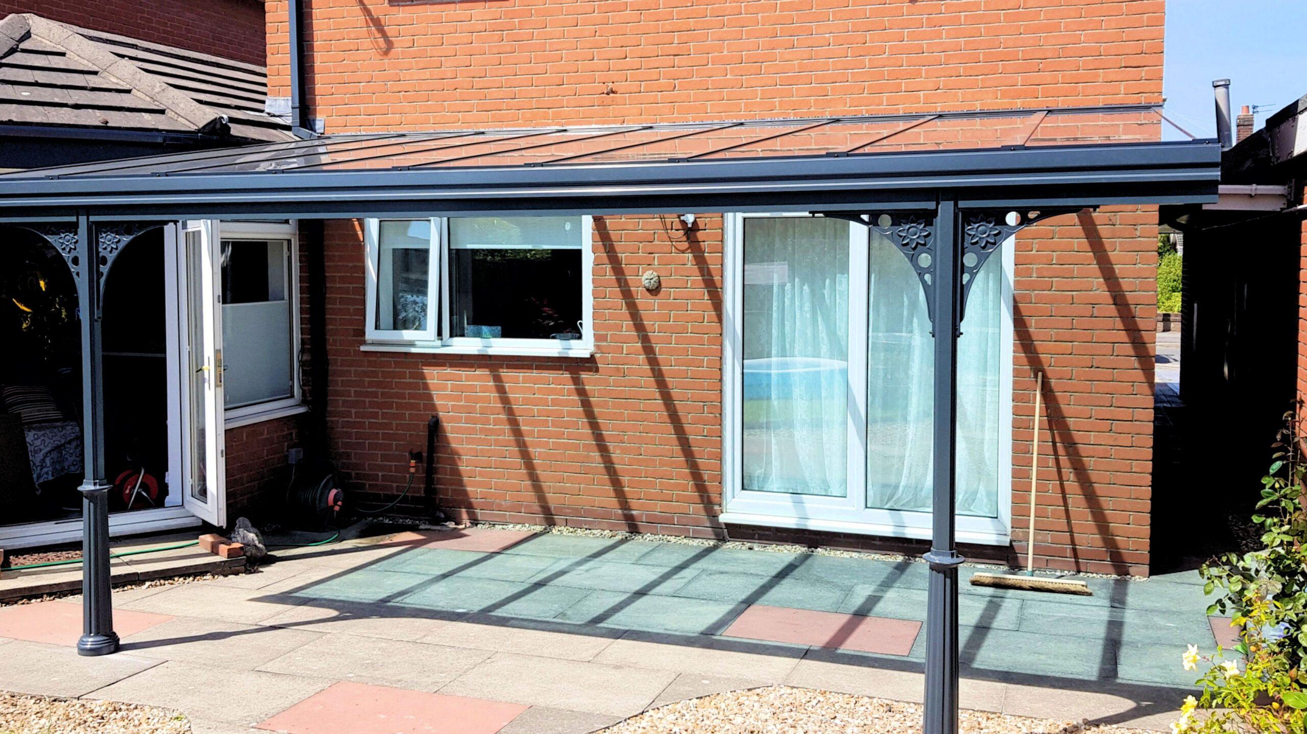 The beauty of a contemporary veranda